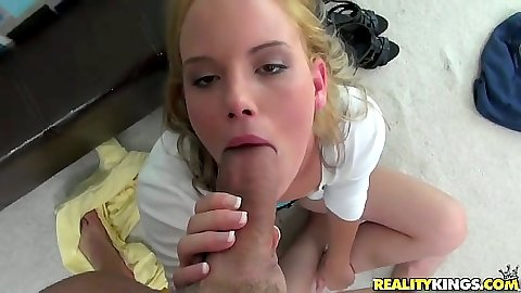 Big dick pov blowjob from Taylor Slit and pulled aside panties rear fuck