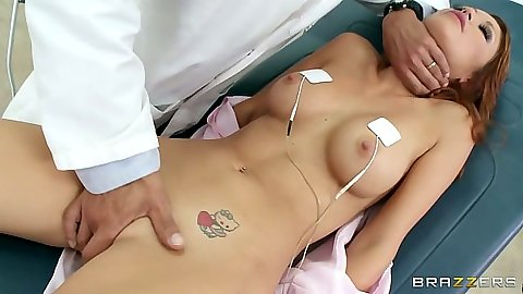 Monique Alexander gets fingered by her doctor and sex