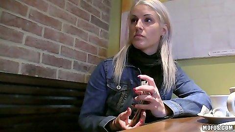 Pick up for public blonde slut beata and toilet pov bj