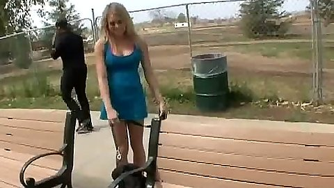 Shawna Lenee picked up or big dick interracial blowjob