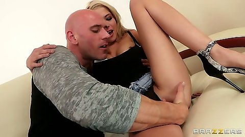 Fingering rolled up skirt girl Tiffany Fox and pov blowjob