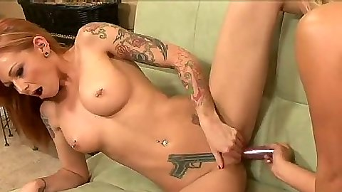 Sex toys lesbian pussy entering with