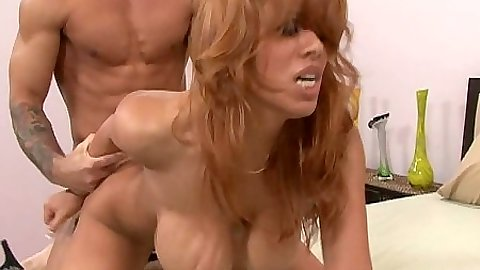 Naked milf with big tits Sienna West doggy style fucked with close up