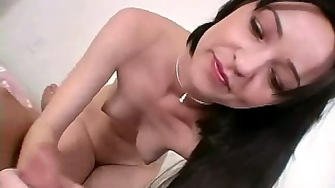 Pov handjob with cute petite brunette Tawny