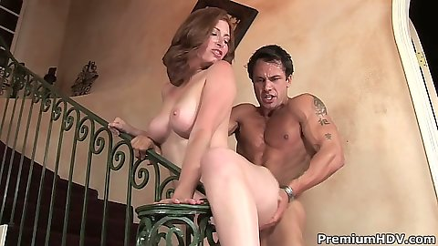 Big tits Ginger Blaze enjoys her mature pussy getting fucked