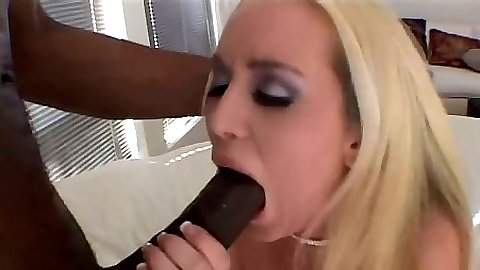 Big dick black cock interracial cock sucking Bianca Pureheart