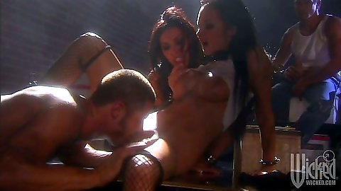 Alektra Blue and Veronica Rayne group fuck and cock suck