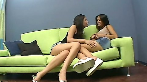 Sexy stripping lesbian girlies Elena and Kina