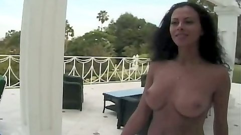 Outdoor milf Olivia Del Rio gets her ass licked and dick sucks