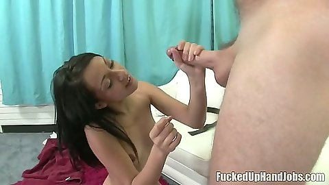 Handjob from loeve petite and young teen girl Rachel Milan