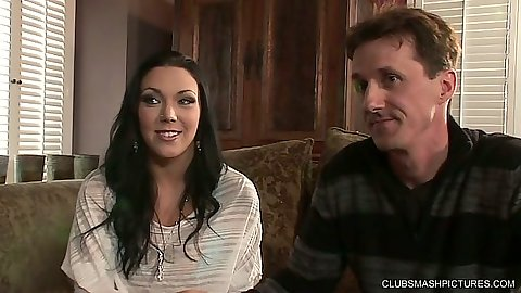 Fully clothed Megan Foxx talks about her wife needs