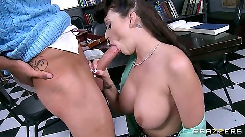 Alexis Grace big tits blowjob including titty fuck and vagina licked