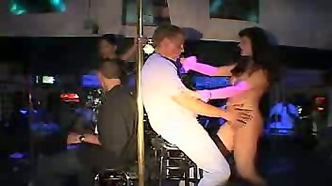 Dancing skanky stripper with a client