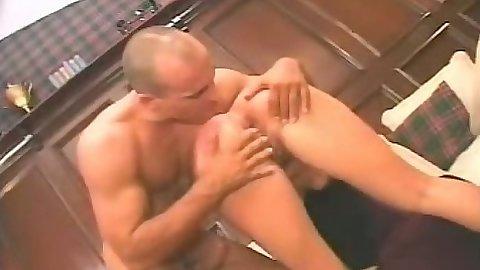 Ass spreading on riding dick with petite Dana