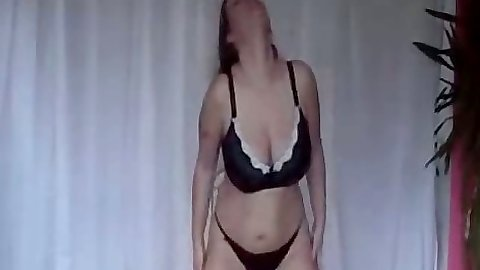 Undressing gf and pov blowjob with cock in her mouth