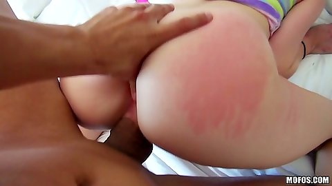 Thumb up ass fingering with Cadence Lux in pov doggy style and ass spanking fuck