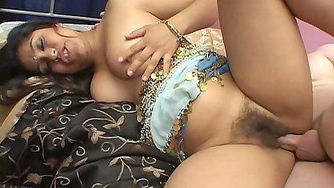 Hairy ethnic indian Priya gets sideways fucked