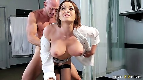 Doctor big tits standing fuck with nurse adventures Krissy Lynn