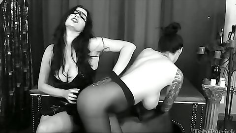 Lesbian stockings fetish spanking scene with pantyhose Tera Patrick and Anastasia Pierce
