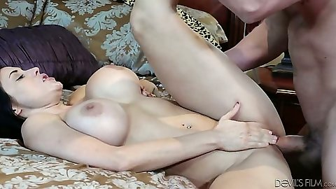 Cowgirl milf fuck from busty Sheila Marie and Savannah Fox