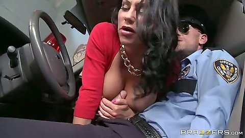 Milf handjob for a cop with Dayton Rains