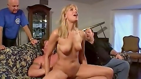 Reverse cowgirl riding a mans dick with natural tits milf Mimi