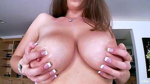 Big tits Alex Chance and her big ass playing with wet pussy lips