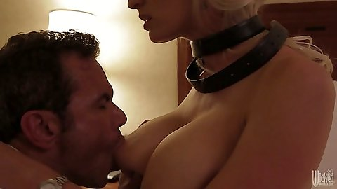 Milf Stormy Daniels big tit nympho on bed