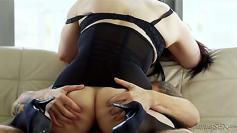 Lingerie and cowgirl with juicy ass Lucia Love