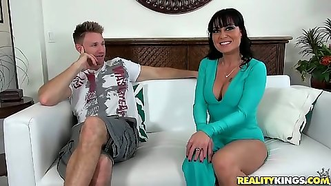 Fully clothed milf and her nice long dress with Mahina
