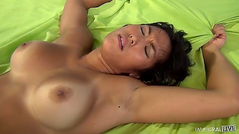 Tanline asian girl Mia Li fucked hard and from behind