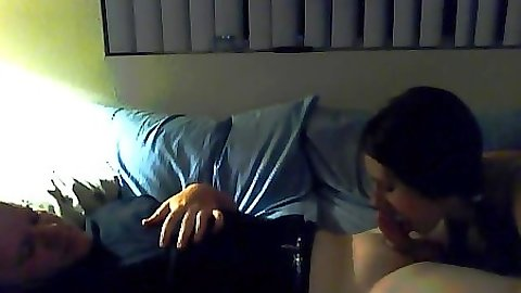 Gf blowjob with Molly on old home video tape