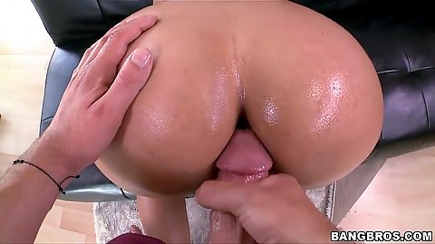 Pov oil sex from behind for milfy Bridgette B