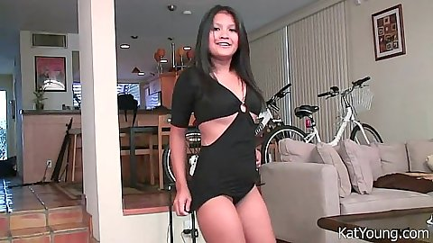 Solo asian softcore teasing Kat Young