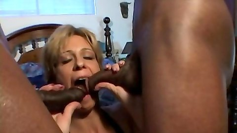Two black cocks in this nympho mature cougar Chloe