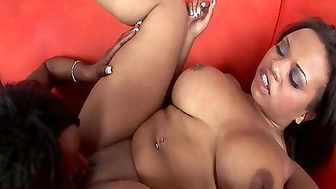 Pussy licking big breast black lesbians babes Kandi Kream and Stacey Cash