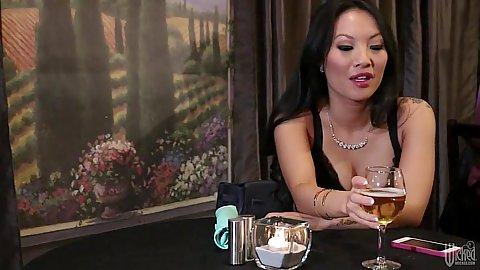 Asian milf Asa Akira enjoying her evening