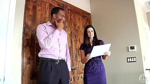 Fully clothed milf India Summer goes with dude