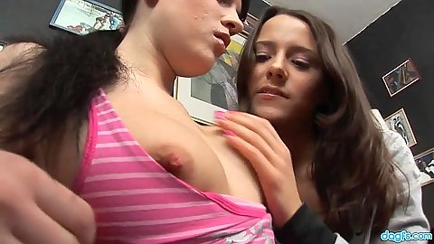 Lesbian teens gets exposed to webcam as they are making out and undressing