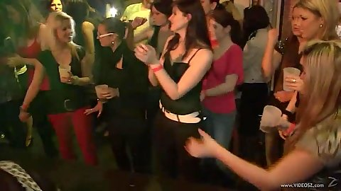 Dancing girl then gets nailed by hired male stripper in public