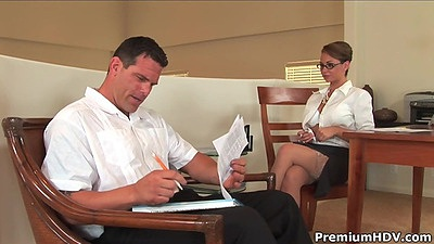 Vixen Holly West in the office seducing her employer views:869