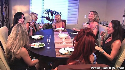 Silly milf lesbians at dinner house wife party from Kayla Quinn and Michelle Lay and Savannah Jane views:773
