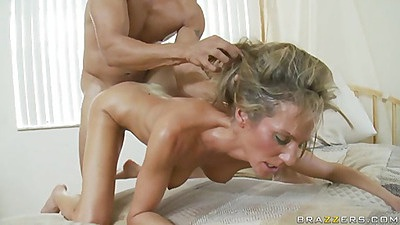 Milf held down and pulled by her hair while dogged