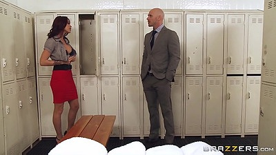 Undressing in the changing room with redhead Monique Alexander views:1489