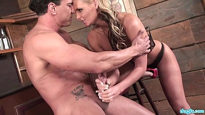 Intense handjob and standing fuck with pro porn star milf Phoenix Marie views:760