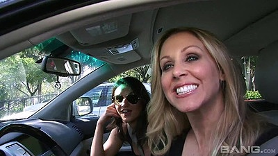 Mad blonde and latina Julia Ann and Charley Chase meat some dudes views:677