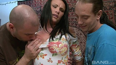 Class milf Ashli Ames gets undressed by a group of men views:438