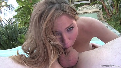 Lovely college Tiff Bannister does 69 and deep throat views:809