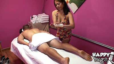 Massage cfnm asian Laci Hurst applying some oil views:3726