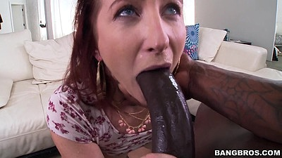 Sophia Locke amazingly tries to fit that massive shaft in her mouth views:976